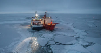 Arctic research ship