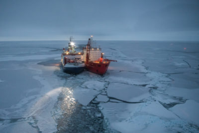 Arctic research ship selects drifting base for atmospheric study