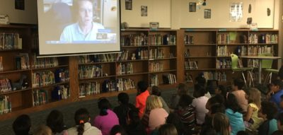 US forecasters make virtual classroom visits with video conferencing service for schools