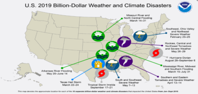 Natural disasters costing US$1bn each, says NOAA