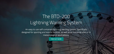 Microsite goes live for Biral's BTD-200 thunderstorm detection system