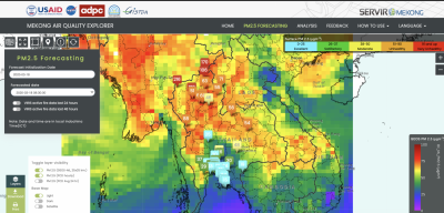 NASA air quality data harnessed by Thai agencies