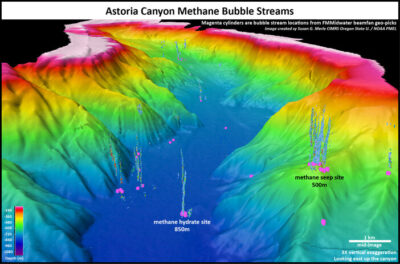 Seafloor mapping data reveals large number of gas seeps off US west coast